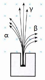 三种射线在磁场中的运动轨迹